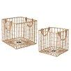 CBK 2 Piece Open Weave Crate Set