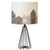 """CBK House Silhouette Accent 21.75"""" H Table Lamp with Drum Shade (Set of 2)"""