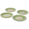 CBK Hand Painted Pattern Dinner Plate 4 Piece Set (Set of 4)