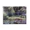 <strong>Art Wall</strong> ''Bridge at Sea Rose Pond'' by Claude Monet Original Painting Canvas