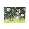 <strong>Art Wall</strong> ''Wild Roses'' by Vincent Van Gogh Painting Print on Canvas