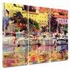 Art Wall 'Golden Harbour Vista' by Peter Graham 3 Piece Gallery-Wrapped Canvas Art Set