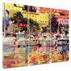 Art Wall 'Golden Harbour Vista' by Peter Graham 3 Piece Painting Print Gallery-Wrapped on Canvas Set