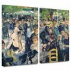 Art Wall 'Ball at the Moulin de la Galette' by Pierre Renoir 2 Piece Painting Print Painting Print Gallery-Wrapped on Canvas Set