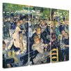 Art Wall 'Ball at the Moulin de la Galette' by Pierre Renoir 3 Piece Print of Painting Gallery-Wrapped on Canvas Set