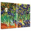 Art Wall 'Irises in the Garden' by Vincent Van Gogh 2 Piece Painting Print Gallery-Wrapped on Canvas Set