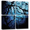 Art Wall 'Japanese Ice Tree' by John Black 4 Piece Photographic Print Gallery-Wrapped on Canvas Set