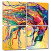 Art Wall 'Windswept' by Linzi Lynn 4 Piece Painting Print Gallery-Wrapped on Canvas Set