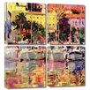 Art Wall 'Golden Harbour Vista' by Peter Graham 4 Piece Photographic Print Gallery-Wrapped on Canvas Set