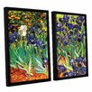 Art Wall Irises In The Garden by Vincent Van Gogh 2 Piece Floater Framed Canvas Set