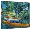 Art Wall ''Bank of the Oise at Auver'' by Vincent Van Gogh Painting Print on Canvas