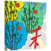 Art Wall 'Parasol Parade' by Jan Weiss Graphic Art Canvas