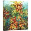 Art Wall 'Quiet Lake II' by Jan Weiss Graphic Art Canvas