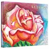 Art Wall 'Pink Rose Dew' by Susi Franco Painting Print on Canvas