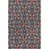 Filament  LLC Cinzia Black / Red Abstract Area Rug