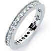 Bonndorf Laboratories Solid Sterling Silver 925 Cubic Zirconia Engagement Wedding Band