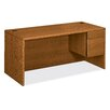 "HON 10700 Series 66"" W Right 3/4 Pedestal Executive Desk"