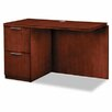 HON Single Pedestal Left Desk Return