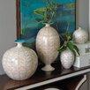 Global Views Brushed Leaf Egg Vase