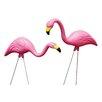 Bloem 10 Piece Pink Flamingo Lawn Statue Set