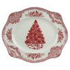 <strong>Johnson Brothers</strong> Old Britain Castles Christmas Oval Platter