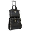 Cabrelli Inc Pyramid Studs Rolling Laptop Briefcase and Tablet Tote