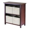<strong>Verona Low Storage Shelf with 4 Foldable Baskets</strong> by Winsome