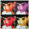 Metal Art Studio 'Audrey Hepburn' Colorful Urban Pop Art Wall Clock