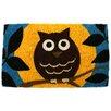 Entryways Wise Owl Hand Woven Coir Doormat
