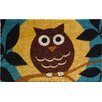 <strong>Wise Owl Handwoven Coconut Fiber Doormat</strong> by Entryways