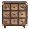 Bombay Heritage Magellan 9 Drawer Chest