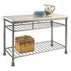 Home Styles Orleans Kitchen Island with Marble Top