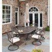 <strong>Home Styles</strong> Floral Blossom 7 Piece Dining Set with Umbrella