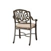 <strong>Home Styles</strong> Floral Blossom Dining Arm Chair with Cushion (Set of 2)