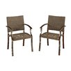 Home Styles Urban Outdoor Dining Arm Chair (Set of 2)