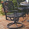 <strong>Home Styles</strong> Cast Aluminum Rocking Swivel Dining Arm Chair