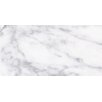 "Faber Carrara Extra High Definition 24"" x 12"" Porcelain Matte Tile in White"