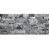 Faber Travertine Split Face Random Sized Wall Cladding Mosaic in Silver and Gray