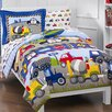 <strong>Dream Factory</strong> Trains and Trucks 5 Piece Twin Bed Set
