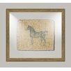 Melissa Van Hise Horse on Linen II Framed Art in Navy