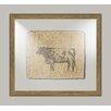 Melissa Van Hise Cow on Linen II Framed Art in Black