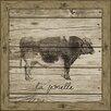 Melissa Van Hise Cow (Wood Planks) Framed Art
