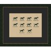 Melissa Van Hise Muybridge Riders I Framed Graphic Art