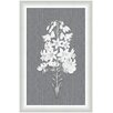 <strong>Melissa Van Hise</strong> Flora on Gray Linen Vl Framed Graphic Art