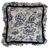 <strong>Provence Home Collection</strong> Hampton Classic Print Mini Ruffle Pillow