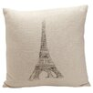 <strong>Auron Eiffel Tower Print Pillow</strong> by Provence Home Collection