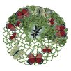 <strong>Xia Home Fashions</strong> Butterflies Round Doily (Set of 4)