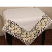 <strong>Xia Home Fashions</strong> Spring Garden Embroidered Cutwork Table Topper