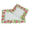<strong>Xia Home Fashions</strong> Strawberry Patch Embroidered Cutwork Placemat (Set of 4)