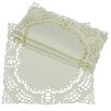 <strong>Xia Home Fashions</strong> Dainty Lace Square Doily (Set of 4)